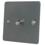 Flat Plate Pewter Toggle Light Switches